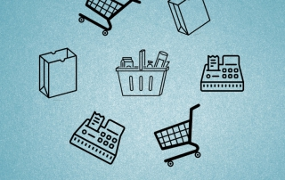 1. Cartel auxiliar de tienda