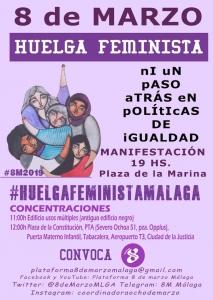 Cartel Concentración 8M Málaga