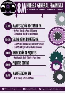 Cartel Huelga Feminista Granada