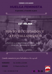 Cartel Huelga 8M Málaga